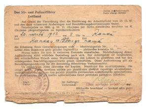Conscription Card